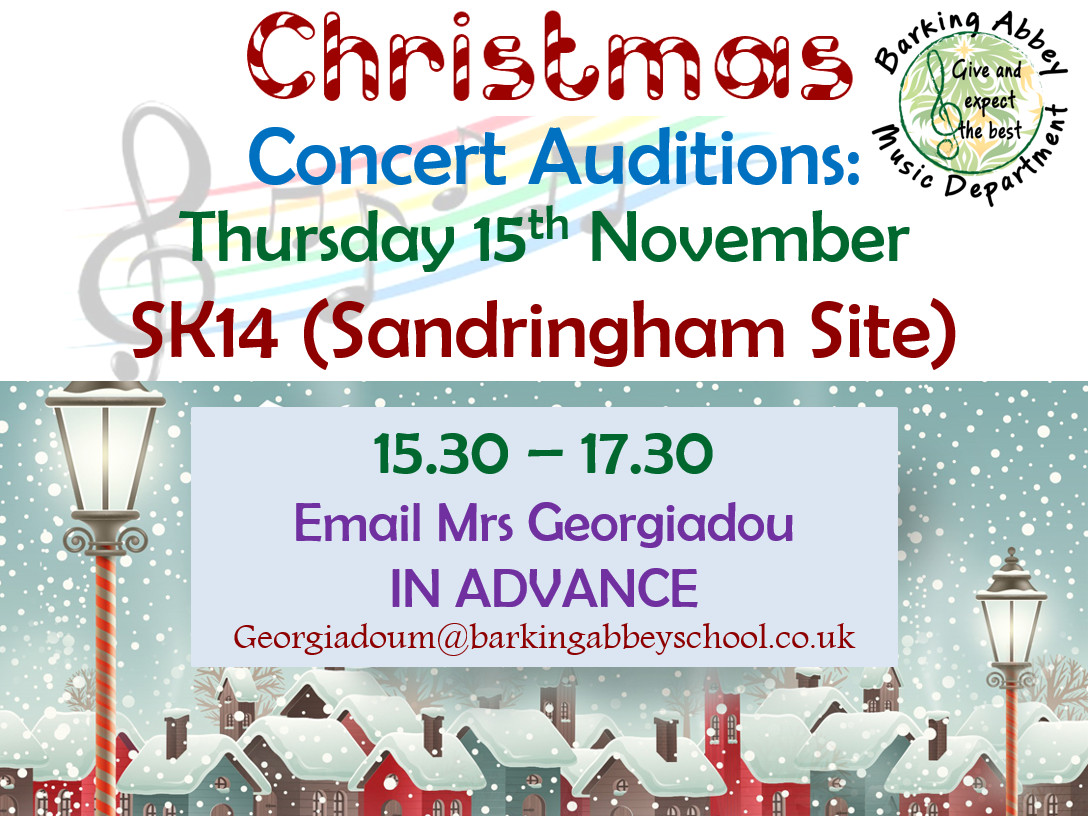 Christmas Concert Auditions